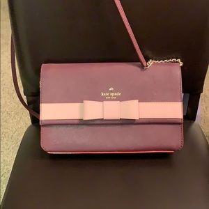Kate Spade burgundy and pink crossbody